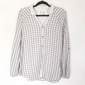 ANTHROPOLOGIE Saturday Sunday gingham flannel top